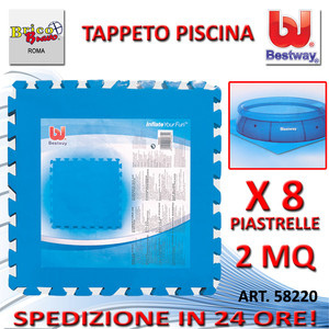 Tappettino 8 pz componibile base fondo piscina 50 x 50 for Tappeto per piscina intex