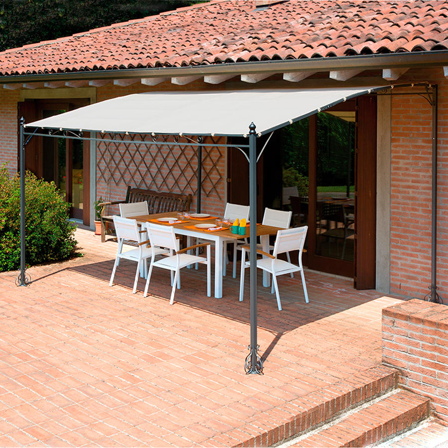 Gazebo pergola 4x3 giardino terrazza top design telo for Sabbia da giardino