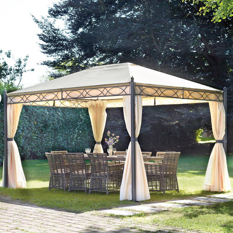 Gazebo 3x4 in ferro da giardino completo di tende laterali e zanzariere progetta il tuo giardino - Happy casa arredo giardino ...