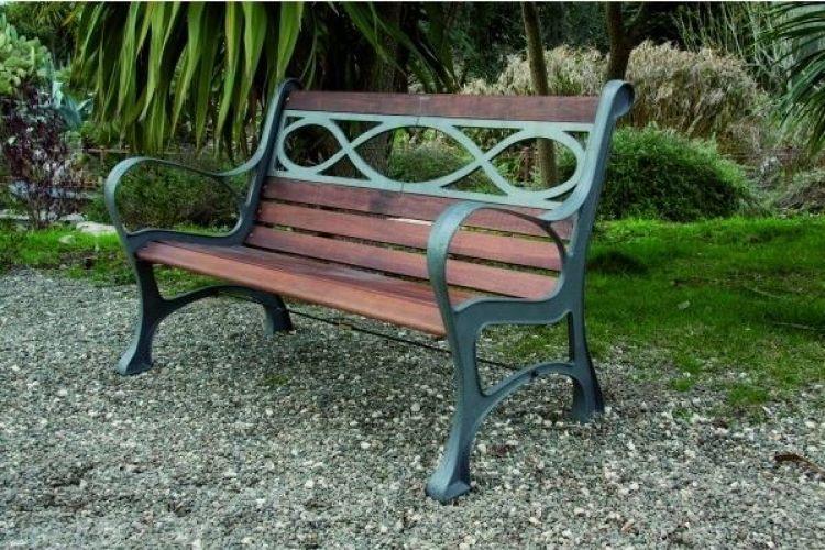 Panchina pesante legno ghisa houston cm 131x65x71 cod 93864 - Panchine da esterno in ferro ...