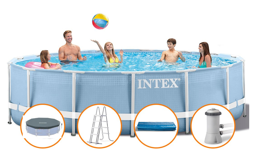 Piscina intex cod 28736 prisma frame 457x122 cm con pompa for Intex accessori