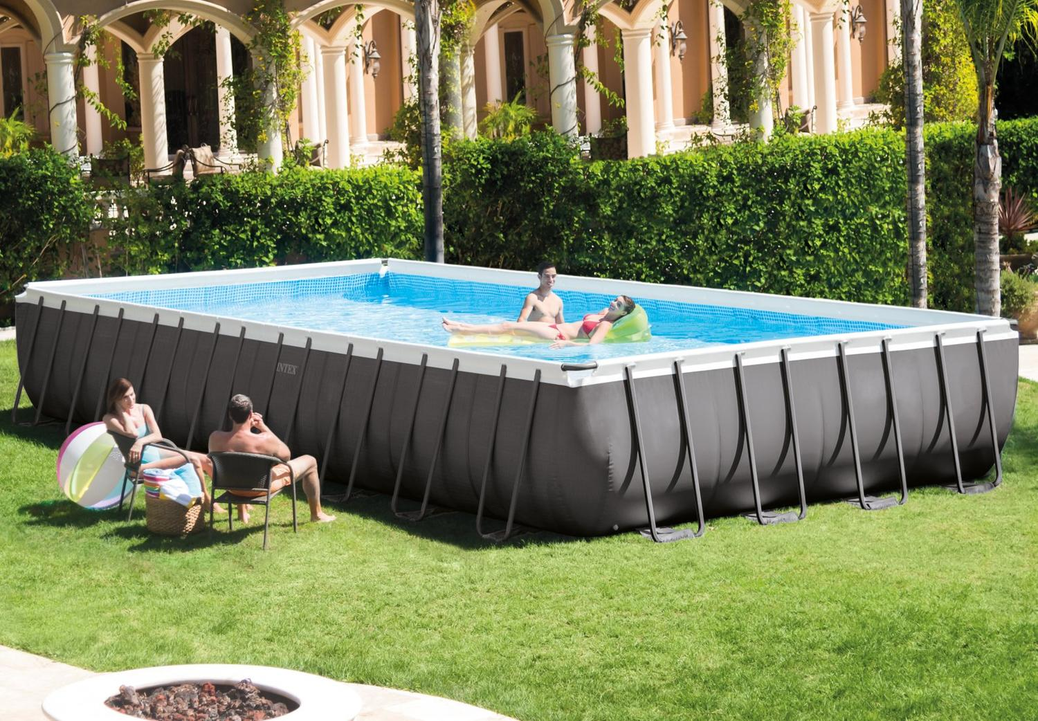 Piscina fuoriterra intex 28372 ultraframe rettangolare for Piscine intex liner