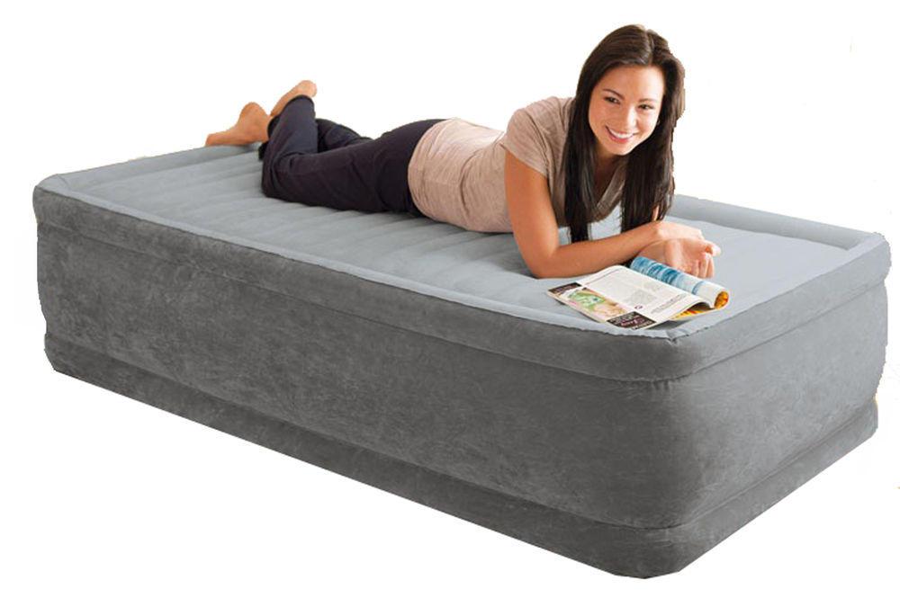 materasso gonfiabile intex 64412 letto singolo campeggio 99x191x46 - Materassi Gonfiabili Con Pompa Elettrica