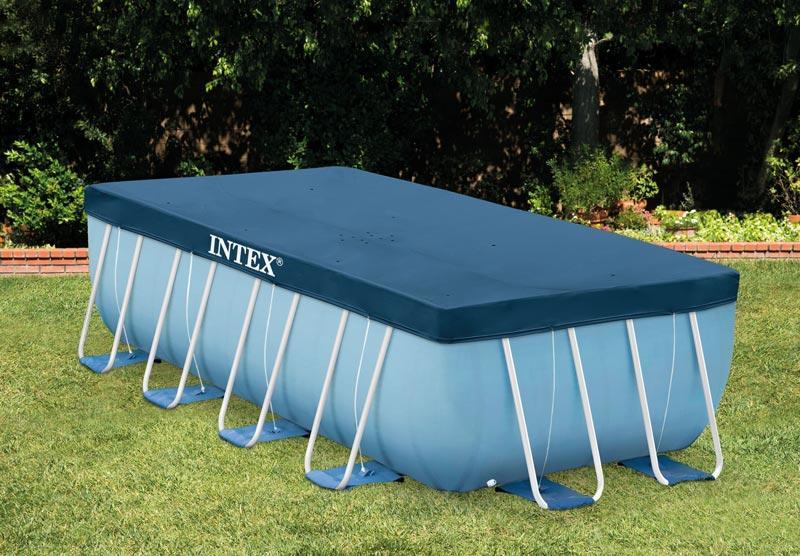 Telo di copertura Intex 28037 universale per piscine rettangolari con misura ...