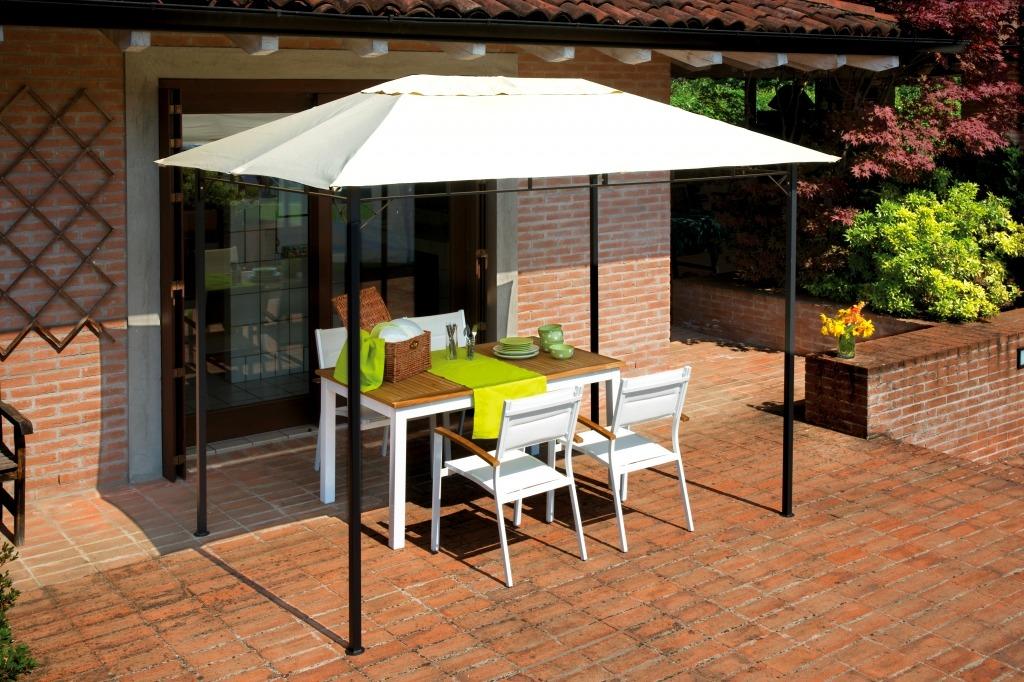 Tipologia gazebi da giardino in ferro rettangolare 3x2 m for Soluzioni ombra giardino
