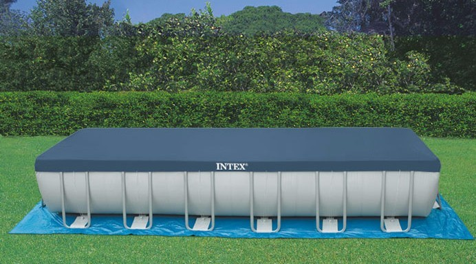Il telo di copertura per piscine rettangolari mod 18936 ideale per piscine fuori terra intex - Ricambi piscine intex ...
