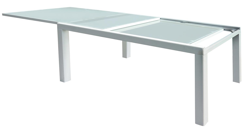 Tavolo poggibonsi 160 280 x 100 cm alluminio bianco con for Arredo da giardino in alluminio