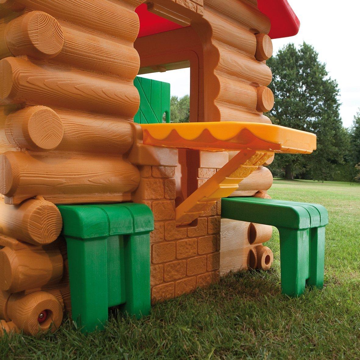 Casetta per bambini da giardino chicco simil chalet legno chicco 30101 casetta chicco - Altalena chicco da giardino ...