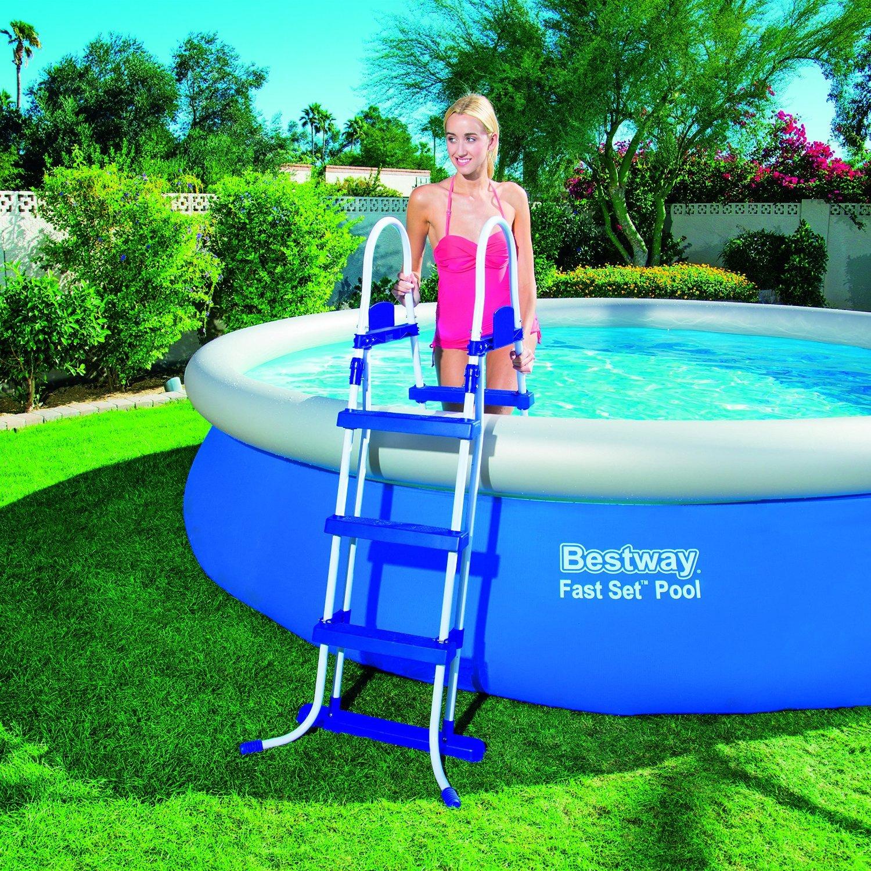 Piscina bestway 57166 fast set pool 366 x 91 cm piscina - Montaggio piscina bestway ...