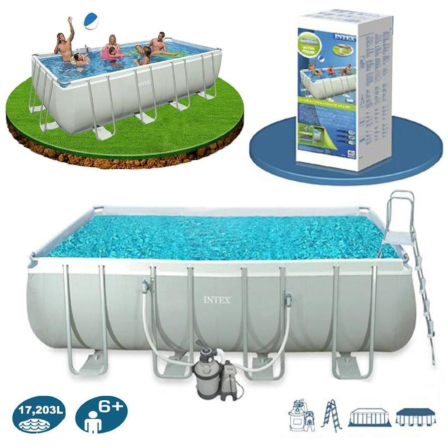 Piscina intex 28352 ultraframe rettangolare misura 549 x for Piscine intex amazon