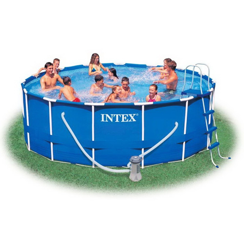 Piscina intex 54946 metal frame rotonda cm 457x122 con for Intex piscine catalogo