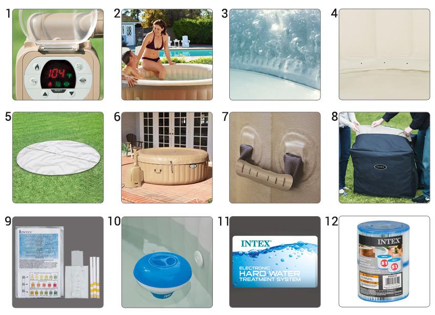 idromassaggio 28404 pure spa bubble therapy con pompa intex 28404 bubble spa 191 x 71 cm. Black Bedroom Furniture Sets. Home Design Ideas