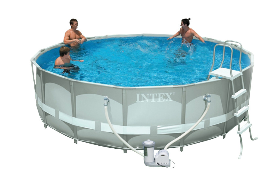 Piscina intex 28322 ultraframe rotonda 488 x 122 cm con for Piscina intex rotonda