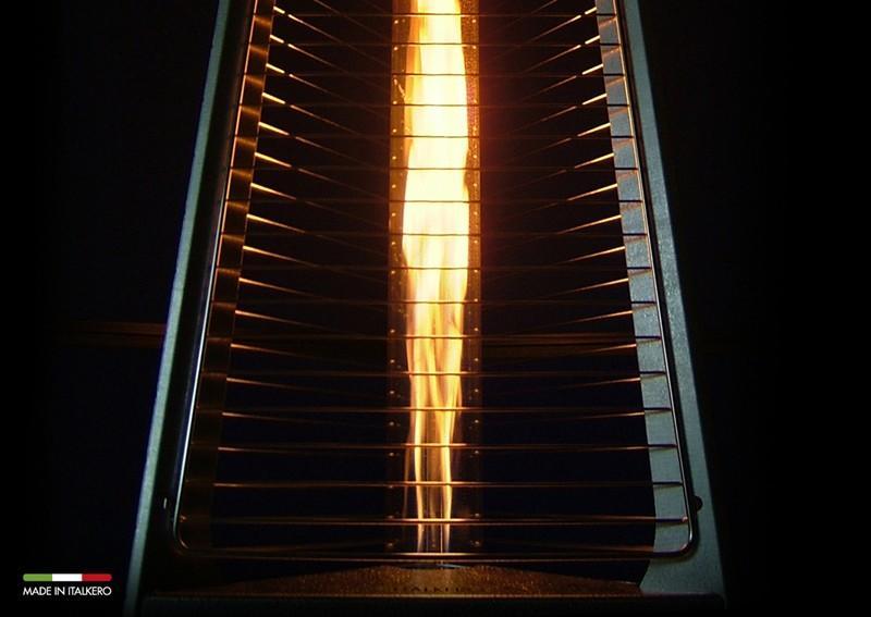 Stufa a Gas Piramide per esterno Kaliente fungo Made in italy diffusore radiante MOD ...