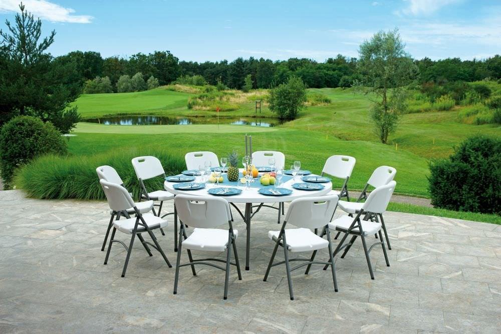 Tavolo rotondo pieghevole per catering diam 180 pieghevole for Metro arredo giardino