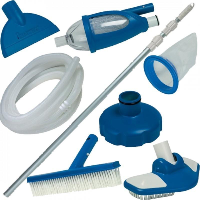 Kit set accessori retino pulizia manutenzione piscina for Accessori per piscine intex