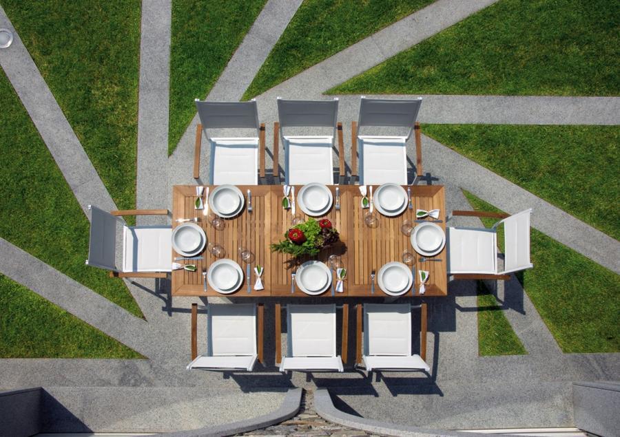 Dettagli l 39 eleganza senza tempo del legno di teak e la for Arredo giardino alluminio