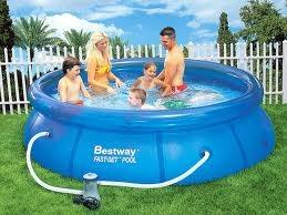 Piscina bestway 57100 fast set pool 244 x 66 cm - Piscina bestway opinioni ...