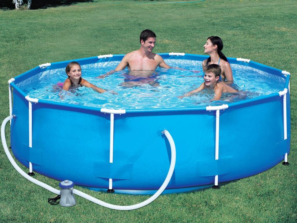 Piscina bestway steel pro frame circolare 56059 diam 305 x 76 for Best way piscine