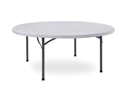 Tavolo in resina rotondo diametro 150 pieghevole per catering sagre mercatini buffet riunione