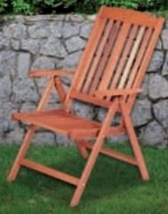 Sedie legno recco 5 posizioni cm 59x69x105