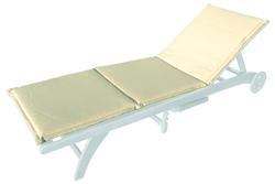 Cuscino per lettino ecrù impermeabile