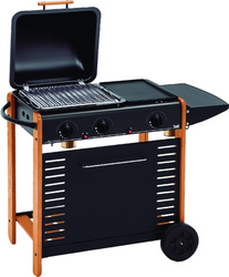 Barbecue BST BERNA ART 296 Ghisa e pietra lavica Multigas BST A.296