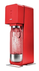 SODASTREAM Gasatore Source Metal Red + 1 Bottiglia + 1 Cilindro + 9 Monodose