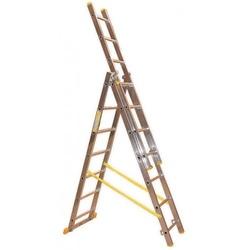 Scala trasformabile 3 rampe in alluminio Maurer 3 x 10 gradini 5,9 mt 89367