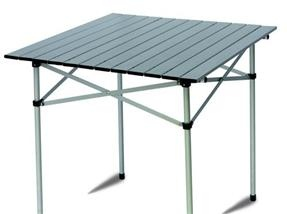 Tavolo campeggio tapparella alluminio 70x70 pieghevole for Tavolo pieghevole salvaspazio