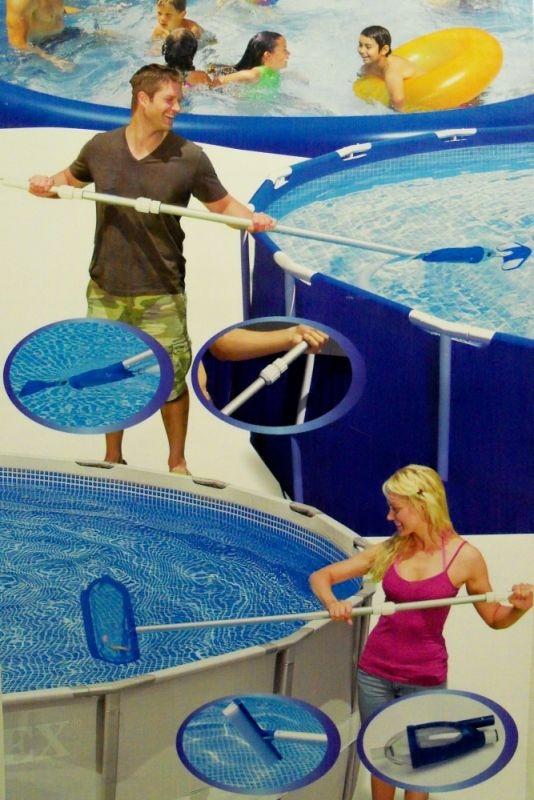 Kit set accessori retino pulizia manutenzione piscina delux intex 28003 - Pulizia piscina fuori terra ...