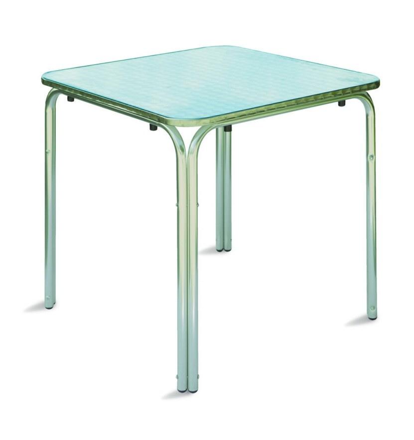 Tavolo Bar professionale quadrato 70 x 70 impilabile in alluminio ...