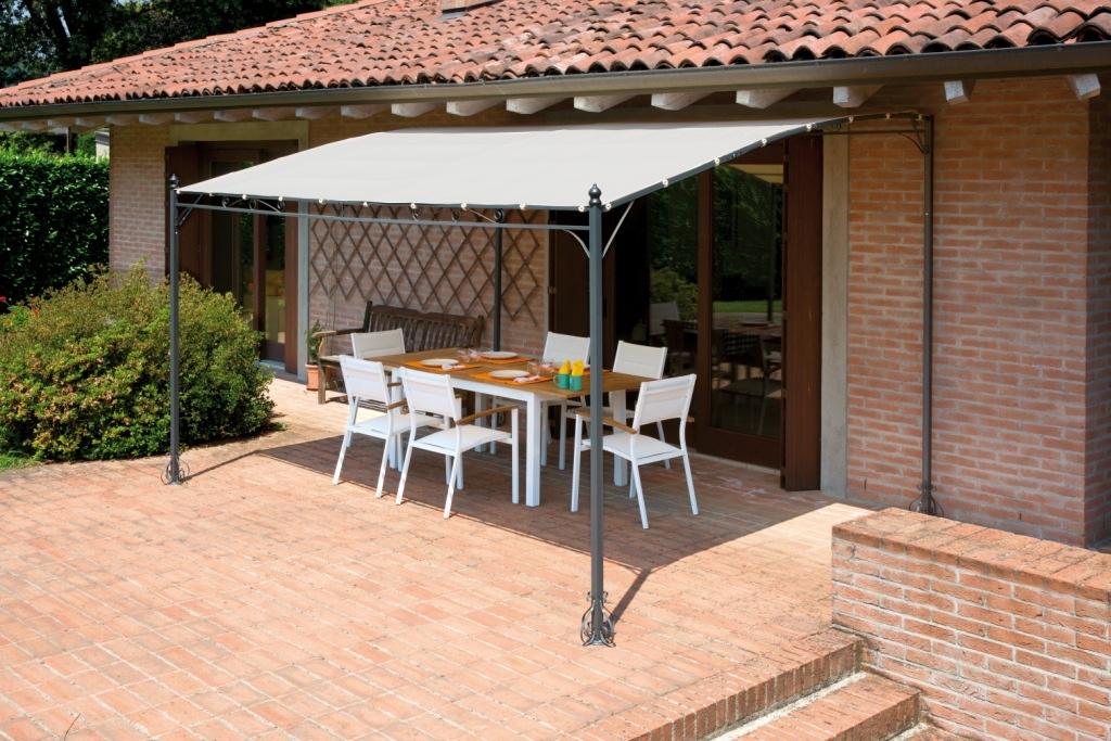 Gazebo pergola 4x3 giardino terrazza top design telo for Terrazza arredo esterni