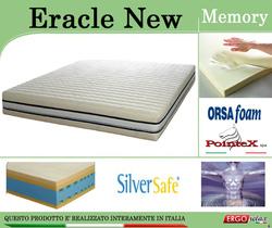 Materasso Memory Mod. Eracle New Singolo da Cm 80 Argento Sfoderabile Altezza Cm. 24 - ErgoRelax