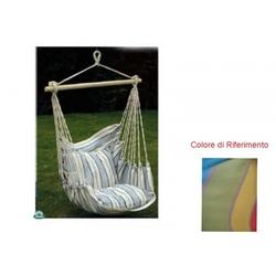 Amaca sedia a dondolo seduta in cotone multicolor amaca da giardino 55518