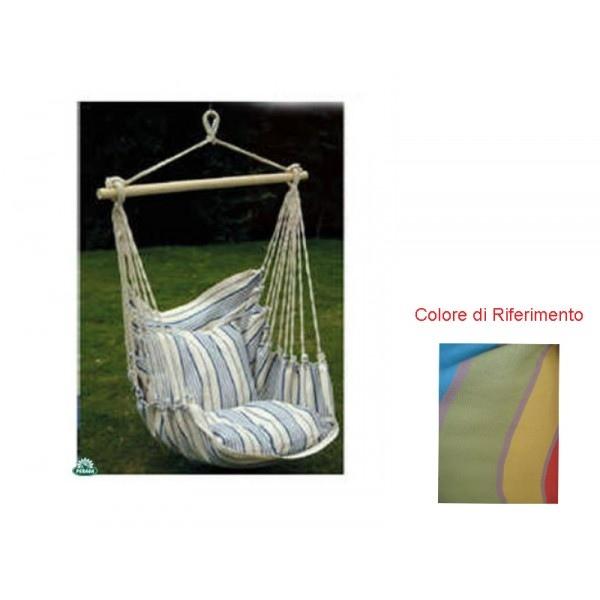 Amaca sedia a dondolo seduta in cotone multicolor amaca da - Dondolo con seduta ...