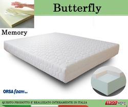 Materasso Memory Mod. Butterfly Singolo 80x190 Anallergico Sfoderabile Altezza Cm. 21 -  Ergorelax