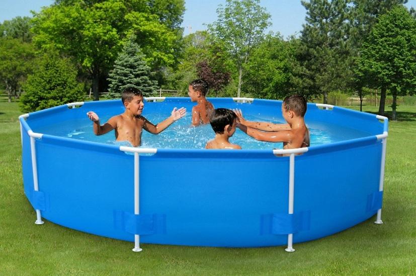 0101k piscina tonda newplast kit florida 305x75 cm for Piscine strette e lunghe