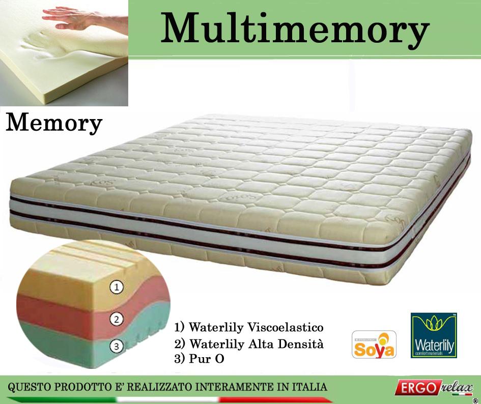 Materasso Memory Mod. Multimemory da Cm. 90 Waterlily Tre Strati - Ergorelax