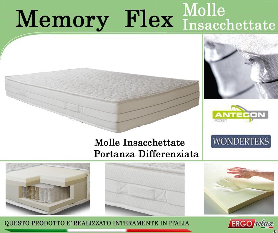 Materasso Memory Mod. Memory Flex con Molle Insacchettate Singolo ...