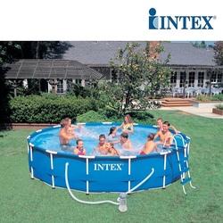 PISCINA INTEX FRAME ROTONDA STEEL diam. 457x91cm con pompa filtro da 3785 l/h 56942