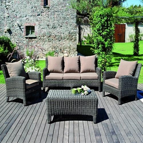 Set divanetto giardino porto rotondo divano 2 poltrone - Divano giardino rattan ...