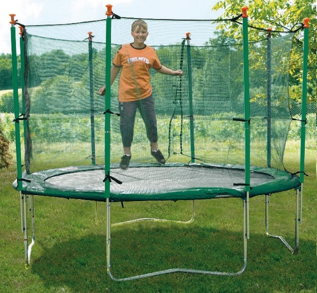 Tappeto elastico con rete protettiva per esterno mod 400 - Tappeto esterno ...