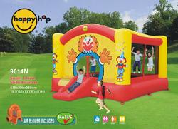 GIOCO GONFIABILE BIG CLOWN ART.9014N mis. 475 x 390 cm Castello grande salterello gonfiabile Big Clown Happy Hop Grande Gonfiabile con SALTERELLO e SCIVOLO