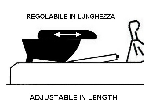 Bracciolo regolabile con portaoggetti per Suzuki Jimny