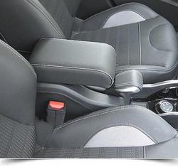 Bracciolo regolabile per Peugeot 2008 con cuciture colorate e cerniera ricoperta
