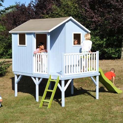 Casetta lampone casa legno colorabile terrazza scivolo tetto impermeabile CL1386 misura cm 360 x ...