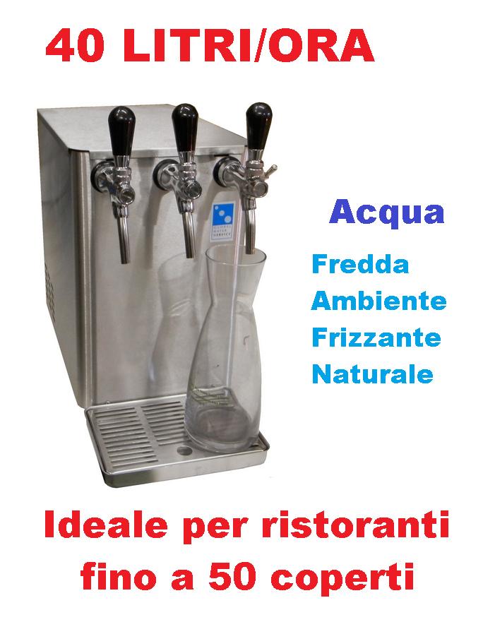 Erogatore acqua professionale Euros 50 per bar,ristoranti e comunità alberghiere in promozione.