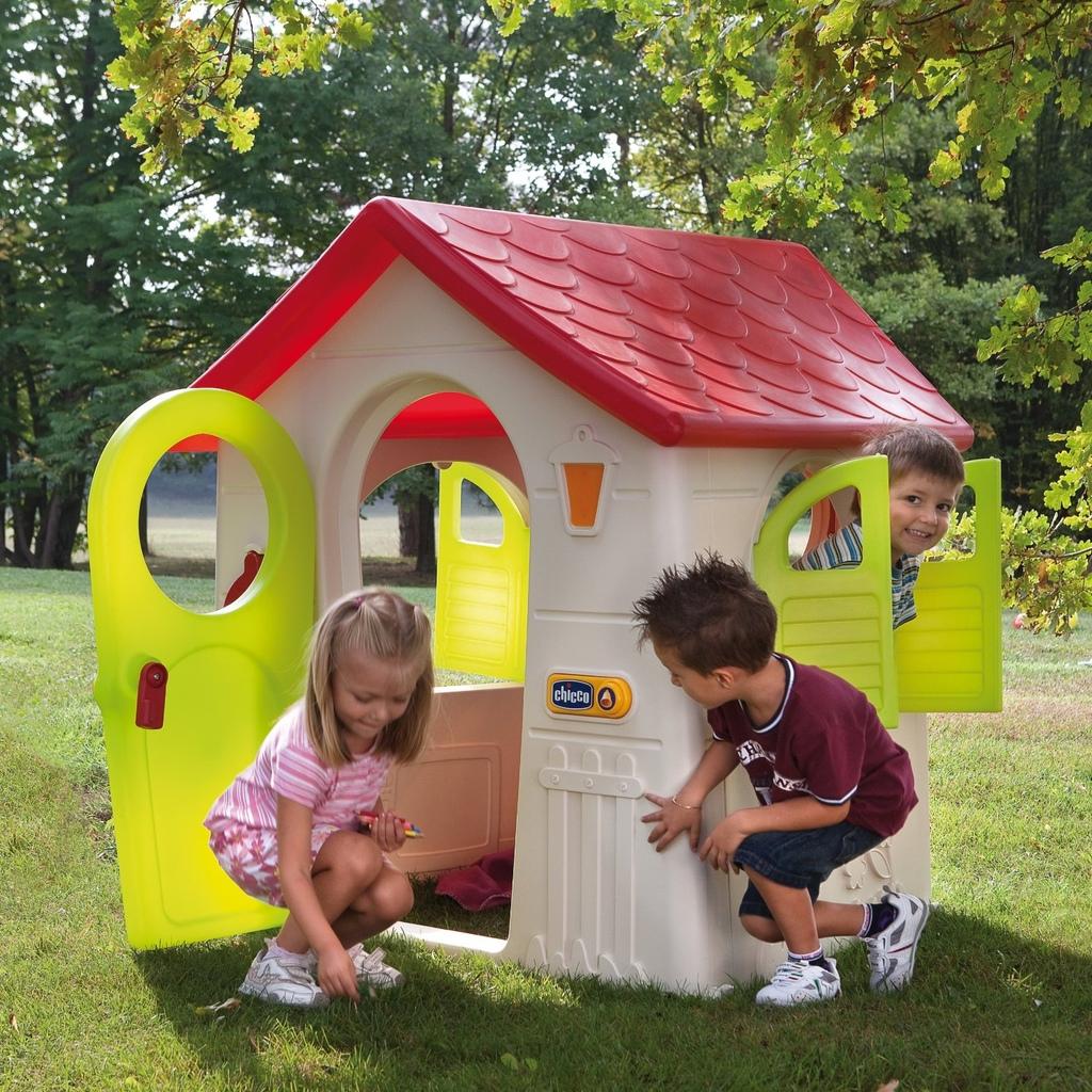 Casetta in plastica per bambini da giardino casetta nel bosco chicco 30102 - Casa plastica per bambini ...