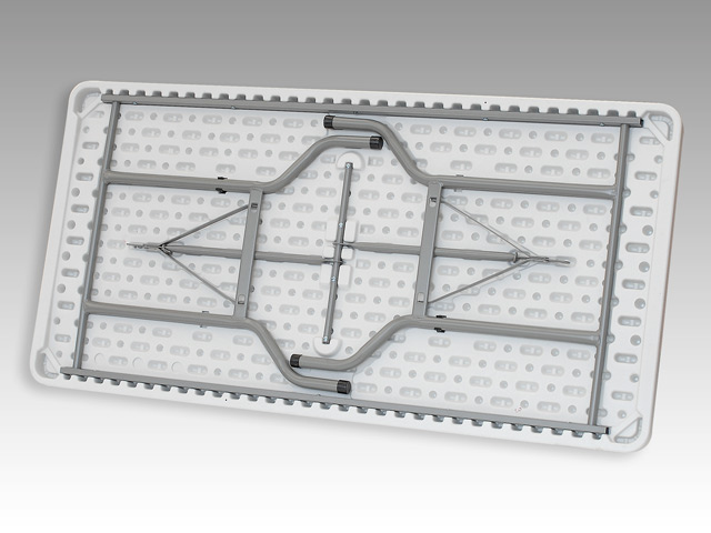 Tavolo fisso rettangolare 183 x 76 x 74 per catering sagre mercatini buffet riunione pezzo unico - Tavoli rotondi per catering ...